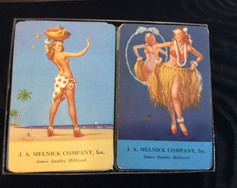 Vintage Pin-Up Girl Playing Cards - Double Deck