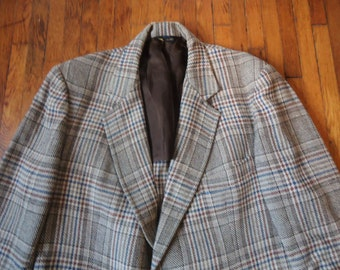 Vintage 70s Pendleton Plaid Sport Coat Blazer 40