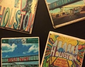 Set of 4 Houston Coasters