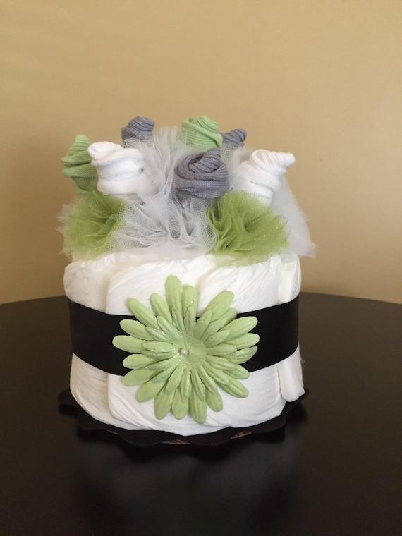 Items similar to sock bouquet mini diaper cake
