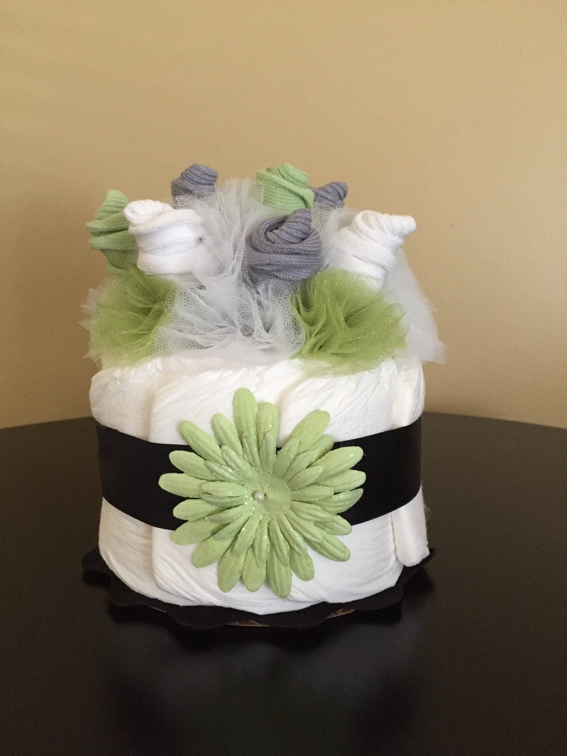 Sock Bouquet Mini Diaper Cake Sock Roses By Justbabyboutique