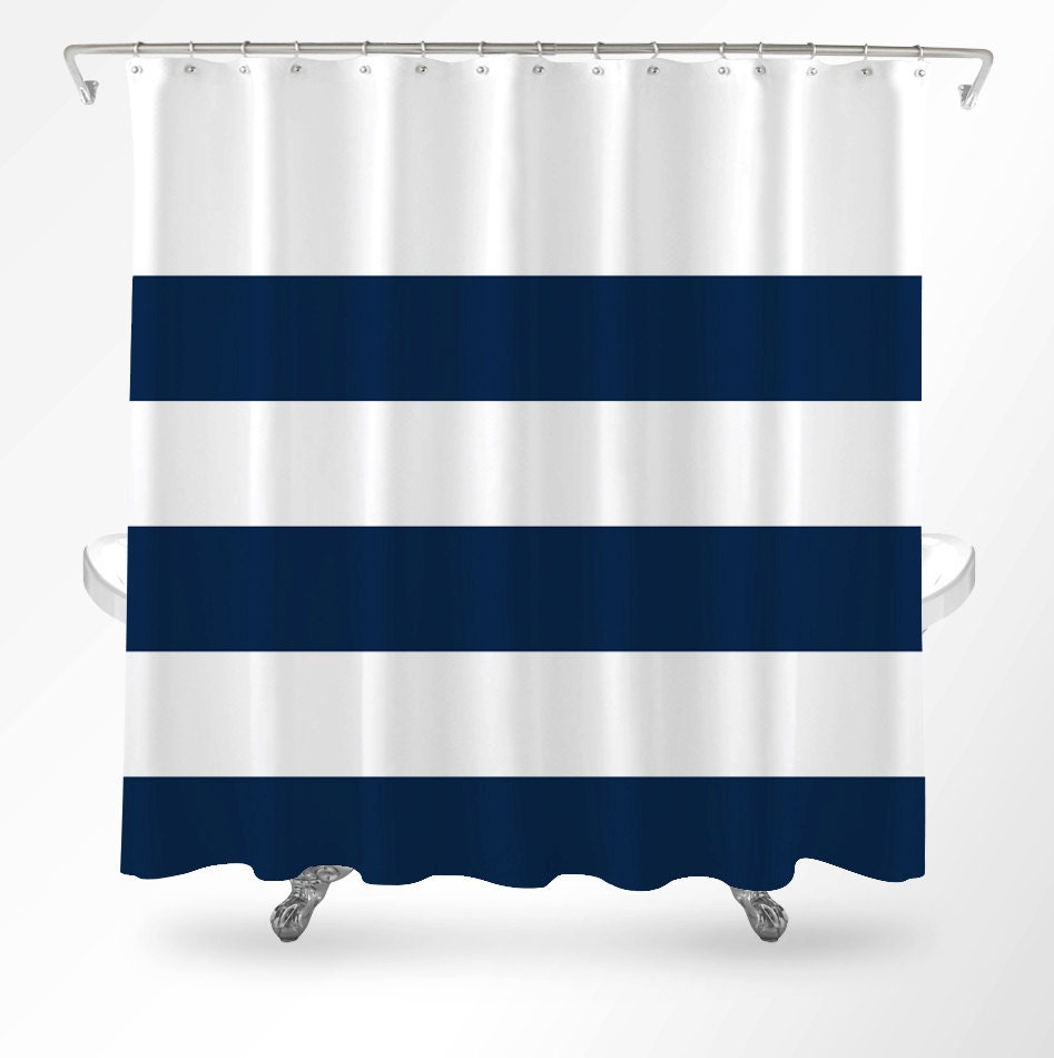 Nautical Shower Curtain Nautical Bathroom Shower Curtain