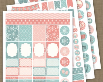 INSTANT DOWNLOAD »» PRINTABLE «« // 225+ January & February Winter Planner Stickers //