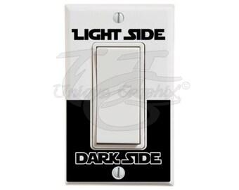 Star Wars Inspired Light Side Dark Side wide light switch decal