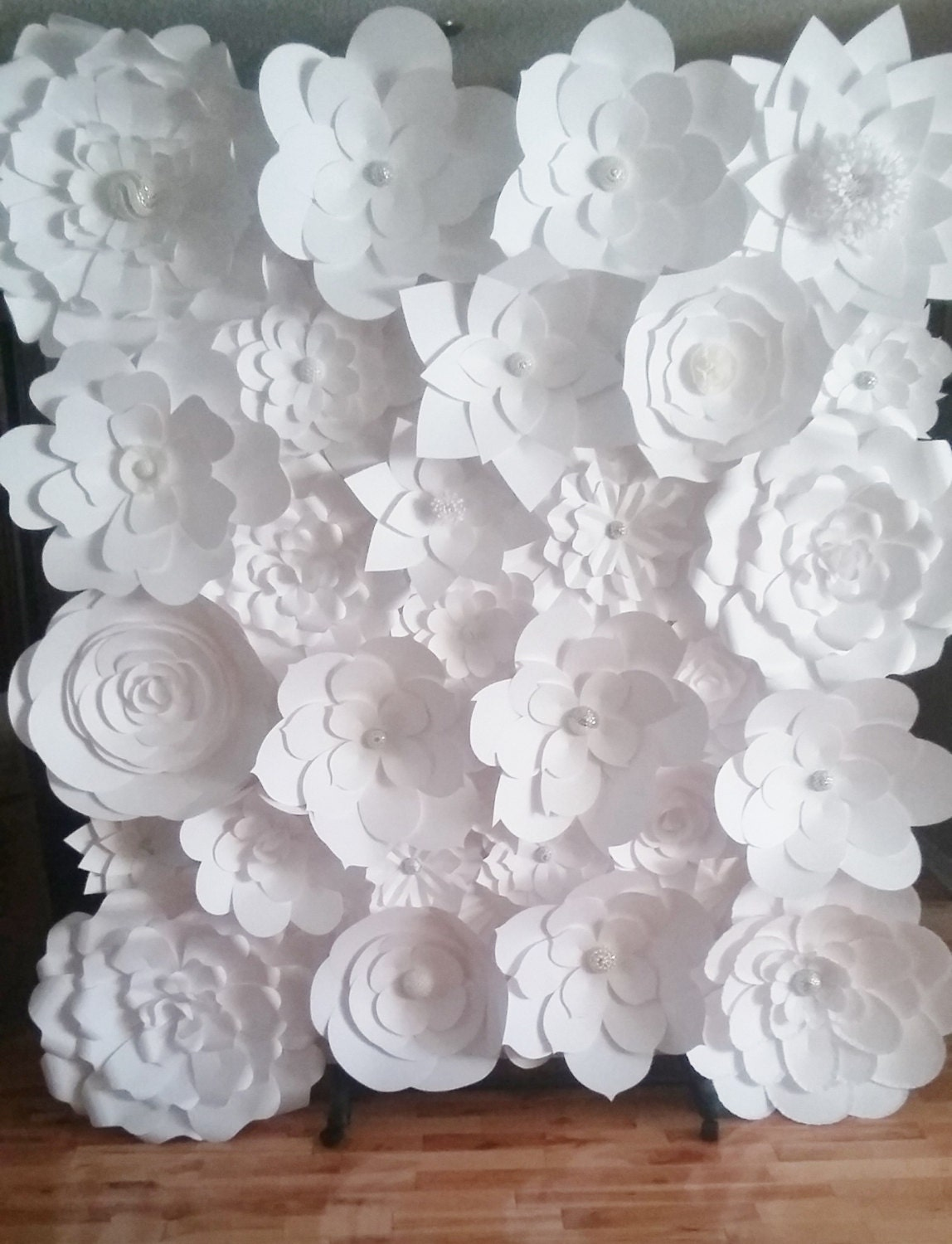 Paper flower wall diy yelomdiffusion diy paper flower wall the knot mightylinksfo
