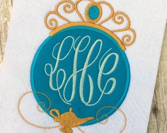 Jasmine Applique Design - Princess Applique Design - Monogram Frame Embroidery Design - Embroidery Design - Applique Design
