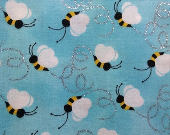 One Half Yard of Fabric Material - Bumble Bee Sparkle