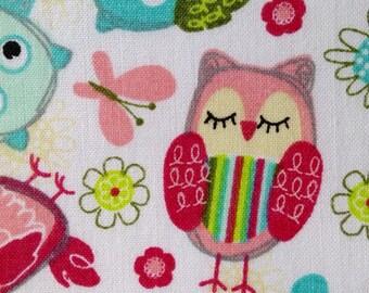 SALE - Half Yard Fabric Material - Sweet Owls