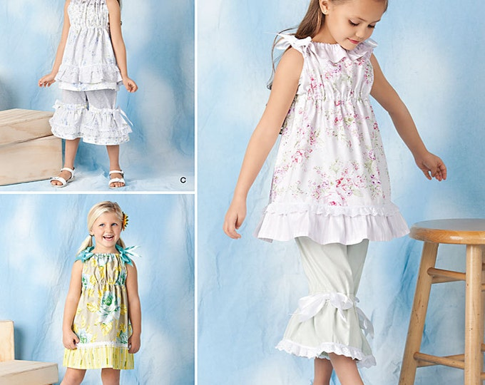 Simplicity - 1628 Child's Dress, Top and Pants by Tenderfoot Stitches - Sewing Pattern