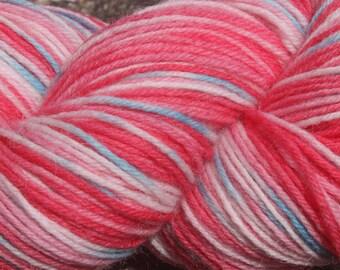 July Pinks #8 - Hand Dyed 4 ply sock yarn 100g - Superwash