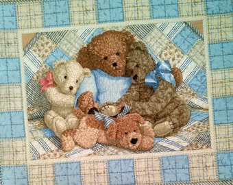 baby quilt teddy bear quilt toddler bed quilt