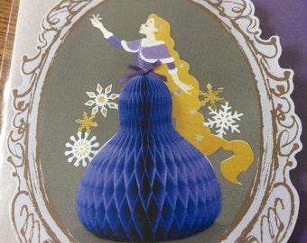 Disney Princess Rapunzel standing paper craft supplies Winter greeting