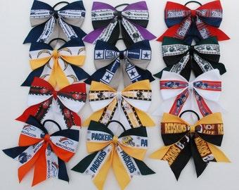 Med. NFL/MLB/NBA Team Hair Bows