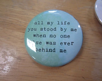 Two Inch One Direction Song Lyric Button