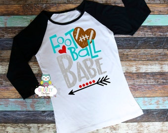 Football Babe Shirt, Football Shirt, Girls Football Shirt, Woman's Football Shirt, Ladies Football,Football Season, Football Fan