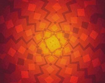 Warm Squares PDF Cross Stitch Pattern