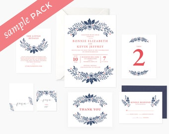 Audrey Collection - Wedding Invitation (Sample Kit)