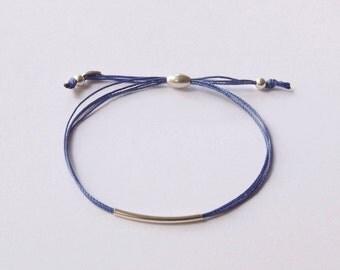 Cord friendship bracelet,silk friendship bracelet, friendship bracelet, cord bracelet, stacking bracelet, blue bracelet