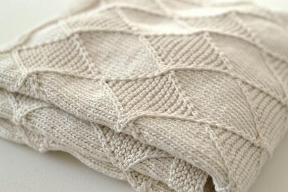Baby KNITTING PATTERNS - Diamond Blanket from ...