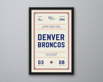 "Denver Broncos ""Day & Night"" Print"