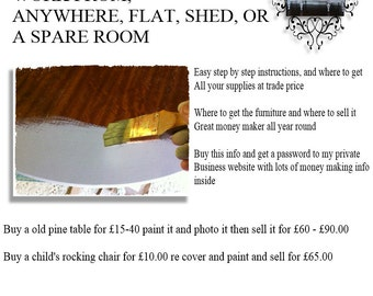 Easy start a business making shabby chic furniture from old un-wanted furniture