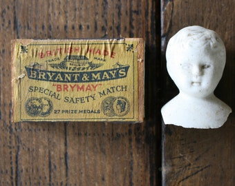 Bryant & May's Brymay Match Box Vestas Case Collectible Matchbox Safety Matches with Contents included with pick up only.