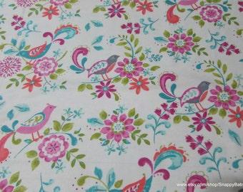 Flannel Fabric - Madison Birds - 1 yard - 100% Cotton Flannel