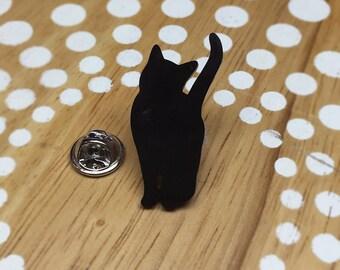 Cat Pin, Cat Tie Tack Cat Lapel Pin, Cat Brooch, Black Cat Jewelry