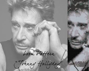 "Loom pattern  for bracelet cuff  ""Johnny Hallyday"""