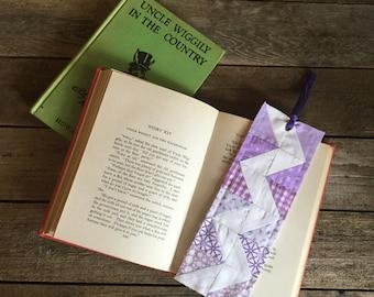 Quilt Block Bookmark, Zig Zag pattern