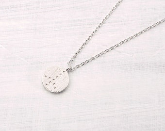 Peace necklace silvered