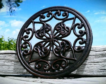 Cast Iron Trivet, Celtic Design, Shabby Chic Wall Decor, Can be Painted to Order with the Color of your Choice