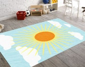 Sun Rug,  Nursery Area Rugs, Neutral Nursery, Sun Nursery, Area Rug Floor, Sun Decor, Baby Nursery Decor, Nursery Decor Boy, Baby Floor Mat