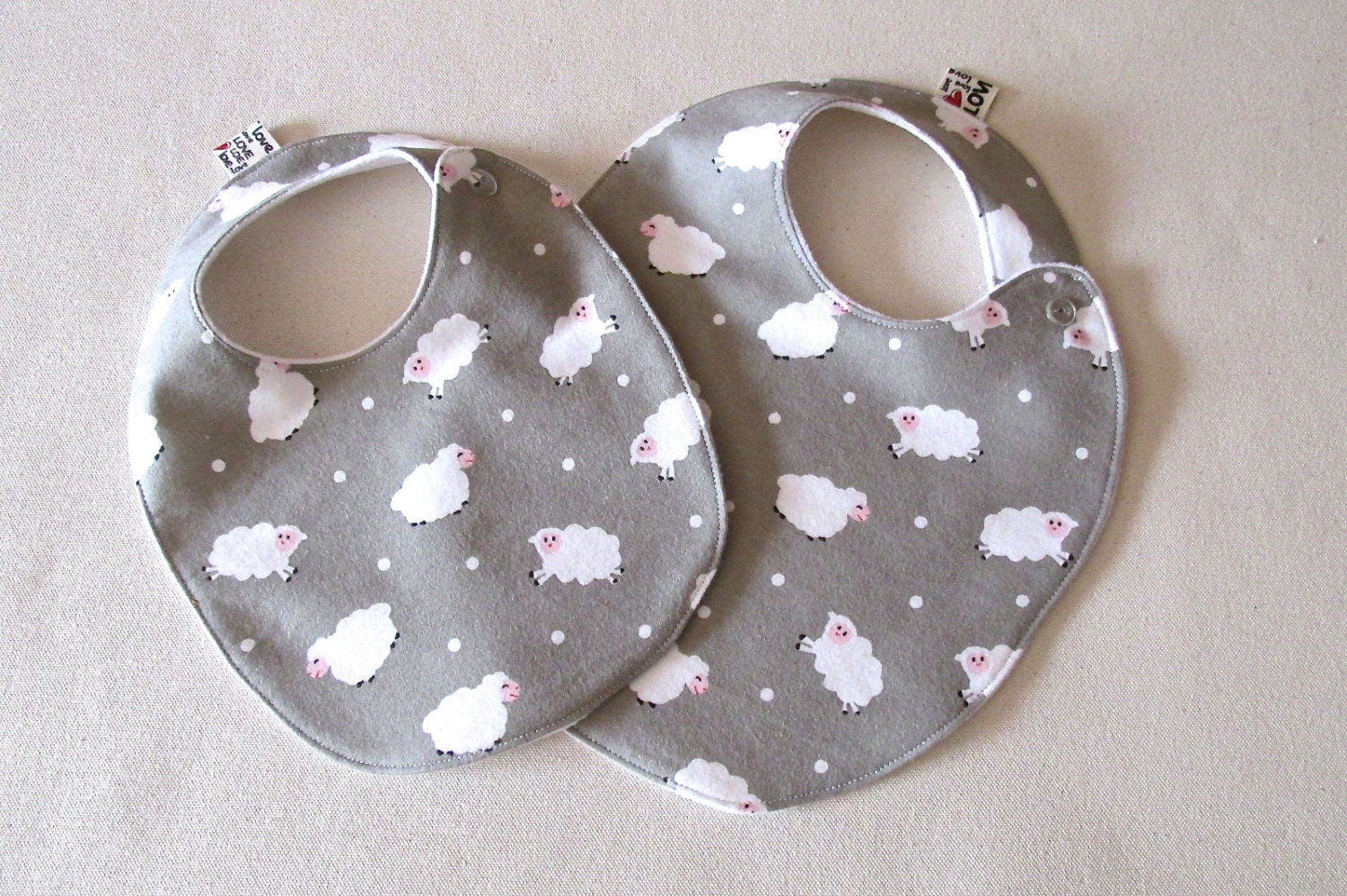 Fashionable Baby Shower Gifts : Baby bib unisex shower gift trendy lambs