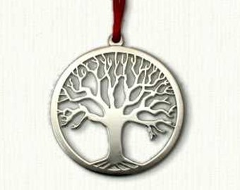"""Celtic Tree of Life Ornament -Size: 2 3/8"""" x 2 3/8"""" - Comes with Velvet Pouch and Ribbon - Awesome Gift!"""