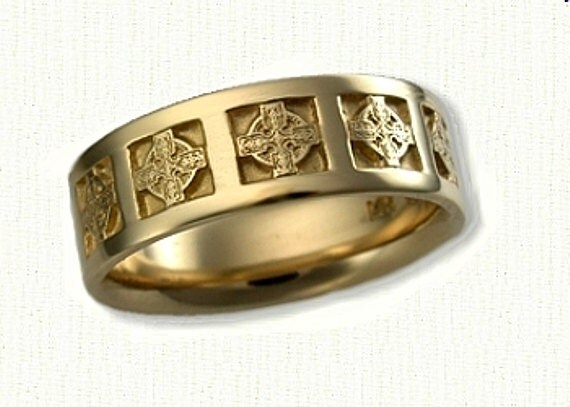 celtic elsinore knot religious wedding band by rarucom