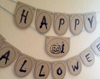 DIY- Happy Halloween Banner (make it yourself)
