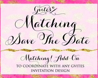 Matching Save The Date Card -  To coordinate with any Gvites invitation design. Gvites {Matching Save The Date Card}