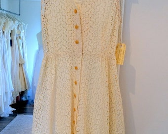 Vintage Rosie Gown - 1940s /50s Lace Dress