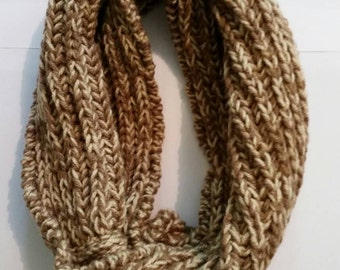 Chunky knit infinity cowl