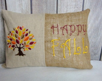 Fall Pillow Cover. Fall Tree Pillow. Tree Pillow Cover. Fall Decor.