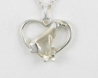 Sterling Silver Labrador Retriever Necklace by Donna Pizarro fr Animal Whimsey Collection of Sterling Silver Labrador Retriever Jewelry