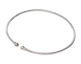 Silver Plated Spiral Choker Neckwire