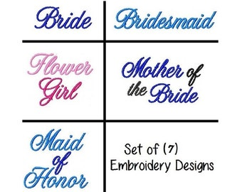 Bride Set 4x4  7 Embroidery Designs -INSTANT DOWNLOAD-