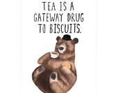 Biscuit Bear A3 Art Print