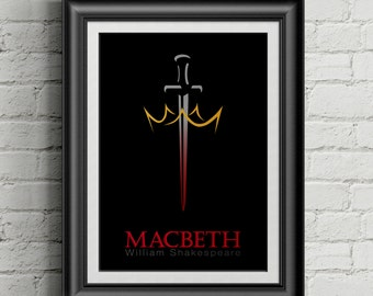MacBeth by William Shakespeare Minimalist Poster