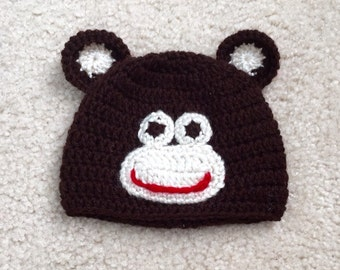 Monkey Hat -  Monkey Costume Hat - Kids Halloween Costume - Toddler Halloween Costume - Baby Halloween Costume