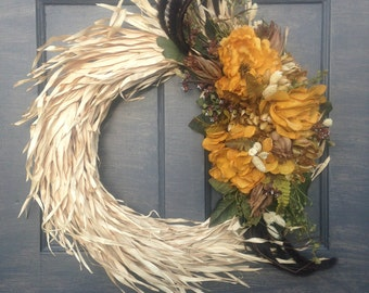 Autumn Wreath, Straw Wreath, Straw Front Door Wreath, Fall Straw Wreath, Fall Straw, Straw Door Decor, Straw Door, Straw Decor