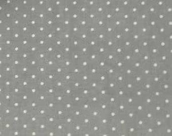 Mas d'Ousvan - Dot Grey Ivory - 1/2yd