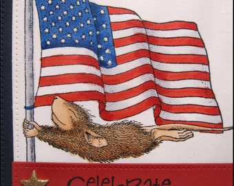 Fourth of July / Independence Day / Flag / Mouse and Flag / Mouse / 4th of July / Handmade Card / Fourth of July Card / Patriotic / Star